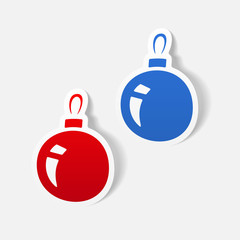realistic design element: christmas ball