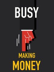 Word BUSY MAKING MONEY