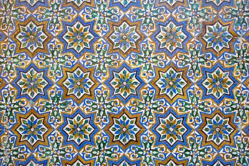 Seville - Tiles from the courtyard of Casa de Pilatos. - 72818224