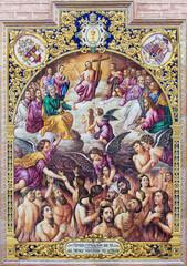 Seville - ceramic tiled Last judgment in San Pedro church