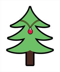 Christmas Tree Shape with Decorative Ball