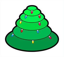 Circular Christmas Tree