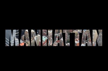 Manhattan concept lettres découpées
