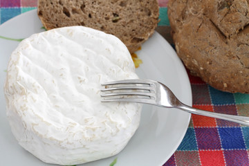 Fresh cheese and homemade bread