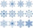 Zdjęcia na płótnie, fototapety, obrazy : Snowflake Vector Set