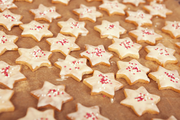 Christmas cookies with white chocolate