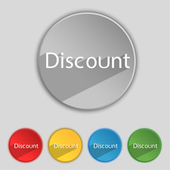 discount sign icon. Sale symbol. Special offer label. Set of
