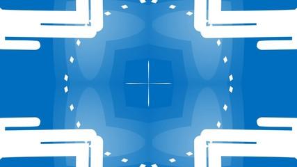 Blue kalidescope