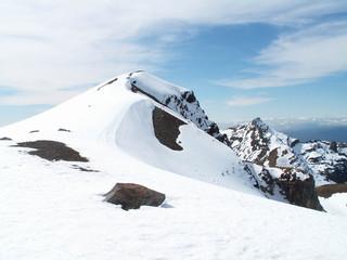 Tongariro Snowy Mountain
