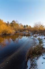 уральская река зимой, Россия