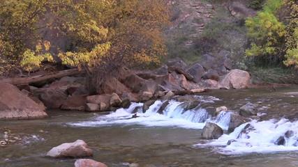Virgin River Waterfall Zion N.P.