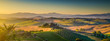 Leinwandbild Motiv Tuscany landscape panorama at sunrise, Val d'Orcia, Italy