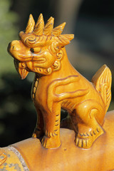 Mythical lion- Suan Ni - (5th son of dragon)-antique figurine