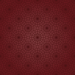 Star & Circle Motifs (Claret Red)
