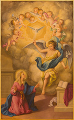 Seville - Fresco of Annunciation in Macarena church