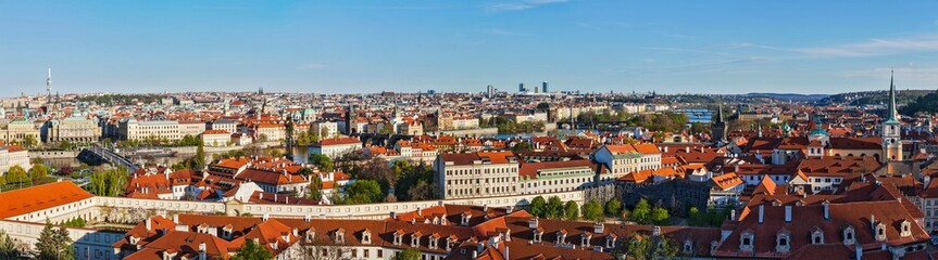 Panoramic view of Prague from Prague Castle
