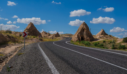 Country road at Cappadocia , Turkey