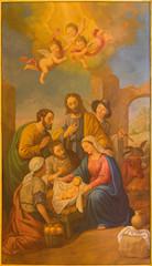 Seville - The fresco of Nativity in the Macarena church