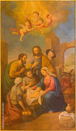 Fototapeta Seville - The fresco of Nativity in the Macarena church