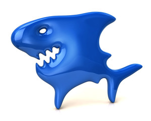 Blue shark icon