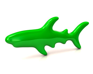 Illustration of green shark