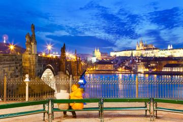 Charles bridge, Lesser town, Prague, czech republic