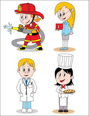 Different children profession character