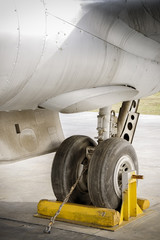 Landing Gear Of An Old Aircraft