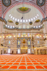 Interior decoration of Suleymaniye Mosque , Istanbul