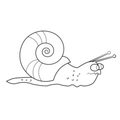 Coloring book. Tense snail