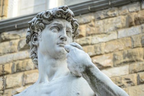 The statue of David by Michelangelo on the Piazza della Signoria