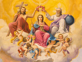 Seville - Neo-baroque fresco of Coronation of Virgin Mary
