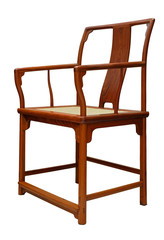 Rosewood chair on white background
