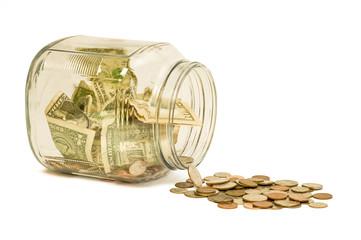 Money Jar Spill