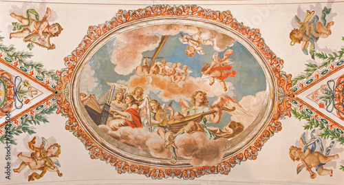 Seville - angels with music instruments baroque fresco - 72825061