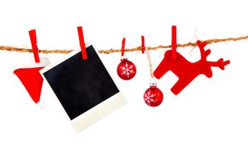 Christmas decoration isolated over white background