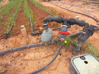 drip irrigation water meter and pump