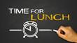 Leinwanddruck Bild - time for lunch