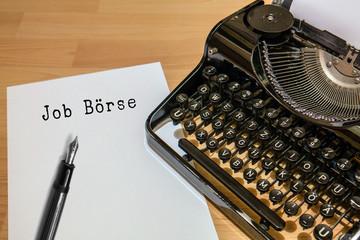 Antike Schreibmaschine, Job Börse