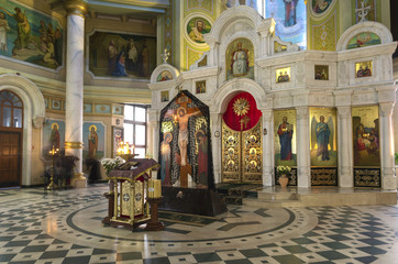 crucifix in the church