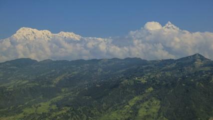 Nepal Himalaya Anapurna mountain range time lapse