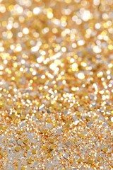 Christmas Gold Glitter background Holiday abstract texture