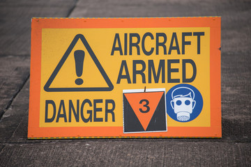 Aircraft Armed sign