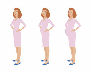Pregnant girl stages