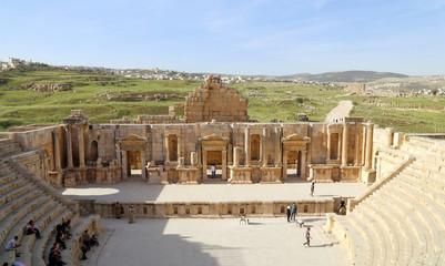 Amphitheater in Jerash (Gerasa of Antiquity), Jordan