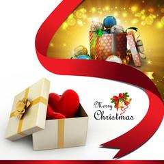 gift box and hearts ..