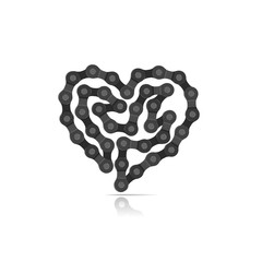 Vector heart from a bicycle chain.