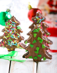 Double chocolate christmas trees