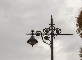 The old-fashioned street lamp, Istanbul, Turkey