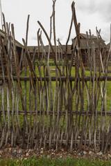 Wooden fence, Shushenskoye, Russia.
